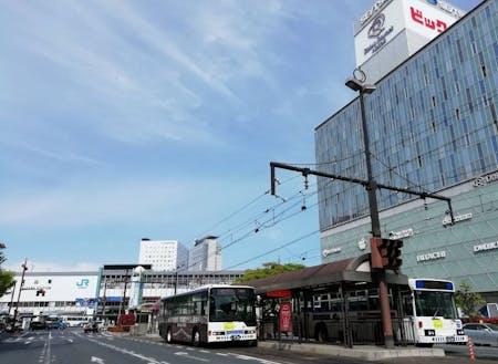 """待たれる岡山駅の""""岡山版MaaS パーク&BRTライド"""""""