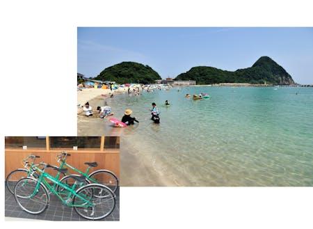 エコハウスにある自転車に乗って、海までGO!!