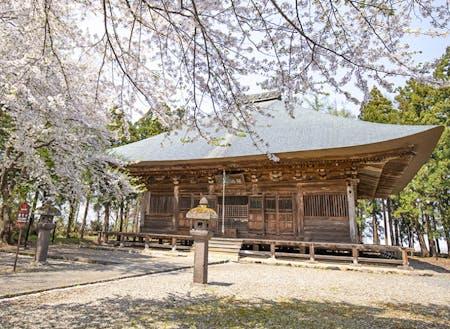 春の勝常寺(薬師堂)