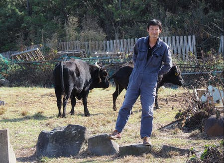 後継者不足に悩む見島牛の飼育で奮闘中!花田隊員