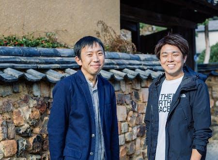 有田町の担当の志賀さん(左)と正司さん(右)。二人ともとっても優しいです!