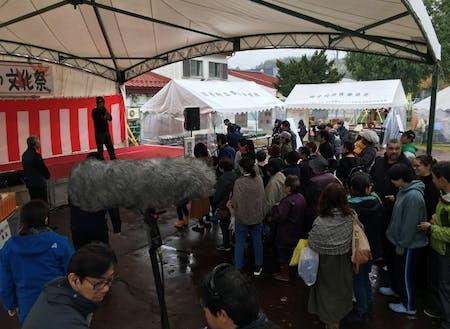 町民文化祭の抽選会の様子