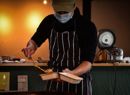 3月に卒業する岡本隊員 明木地区でレストランを開業します!