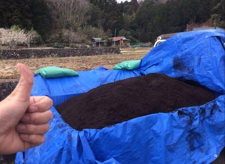 堆肥はサラサラとしていて、匂いもありません!
