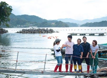 連携チームの地元漁協スタッフも若手です