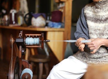 山を購入し、ログハウスで糸紡ぎをしながら暮らす魔女さん