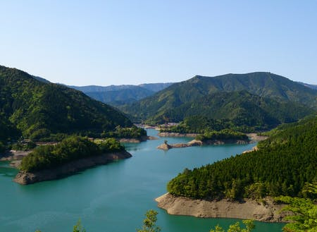 日本でも有数の豪雨地帯の馬路村魚梁瀬には、大きなダム湖があります。