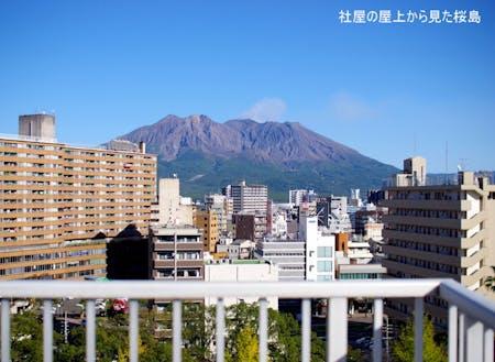 わたしの会社から見た桜島