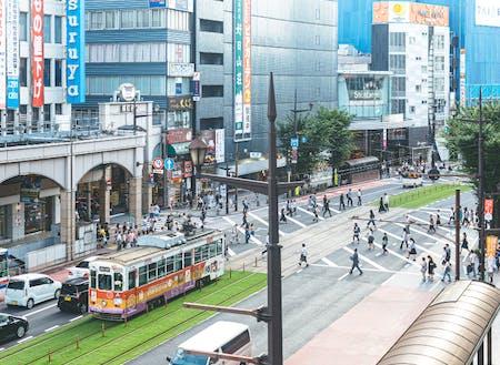 """熊本の人が""""まち""""と呼ぶ市中心部の繁華街"""