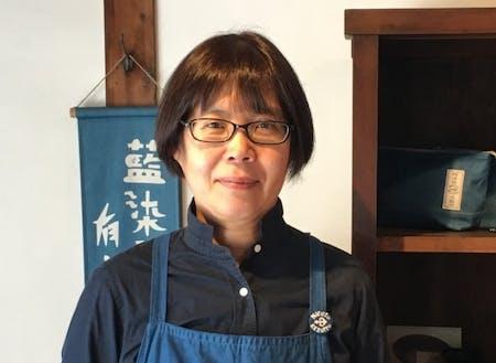 パネリスト|根本 ちとせ 氏(正藍染工房 STUDIO N2代表、徳島県美馬市地域おこし協力隊OG)