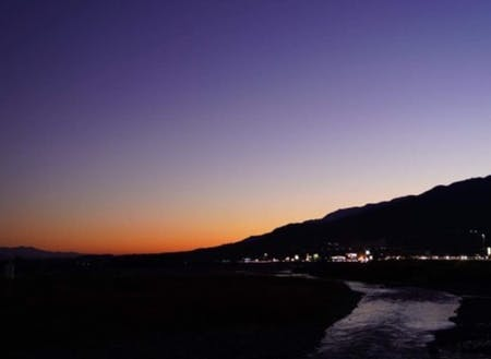 伊那谷の夕暮れ