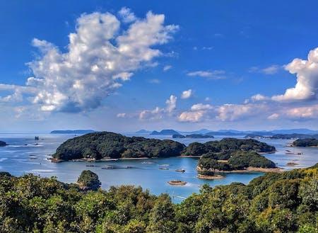 絶景の多島美が楽しめる佐世保市の九十九島