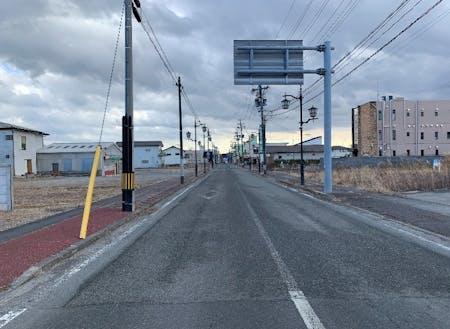 解体後の商店街の様子(2021年1月14日撮影)