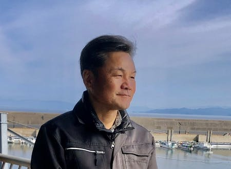 深江町漁協の吉田組合長。「どっかに半漁師に興味ある人、おらんかなあ〜」