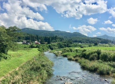 太田川の源流域に広がる里