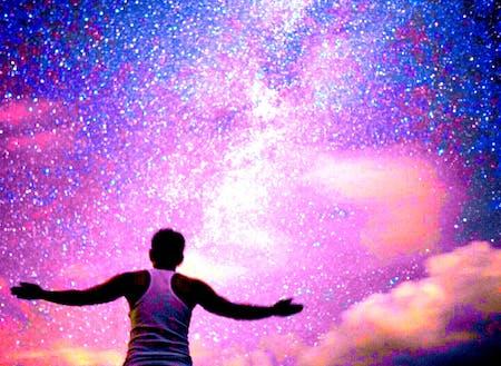 星空が毎夜癒してくれます