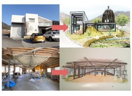 工場跡地をフルリノベーションして、景観にマッチした建物に仕上げます。