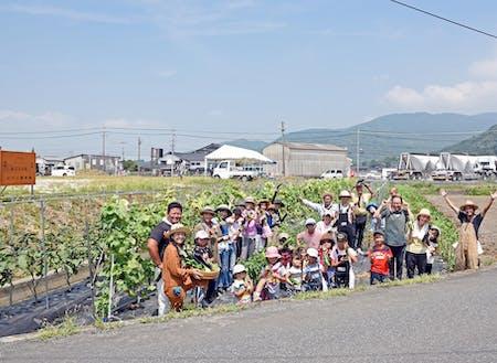 かわら農業塾で行ったイベント「夏野菜収穫祭」