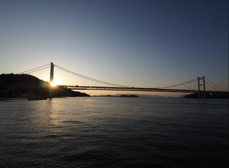 倉敷市 瀬戸大橋の夕日