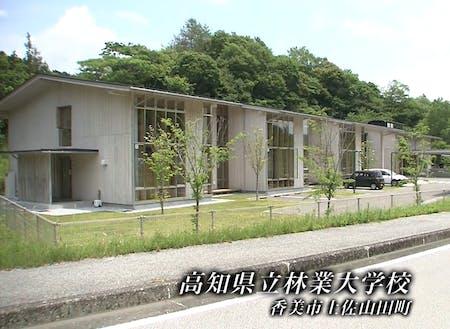 校舎には高知県が需要拡大を目指す新建材「CLT」などを活用